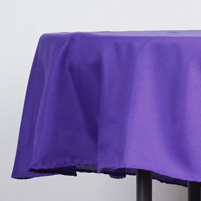 "90"" Purple Polyester Round Tablecloth"