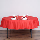 90 inches RED Wholesale Polyester Round Tablecloth For Wedding Banquet Restaurant