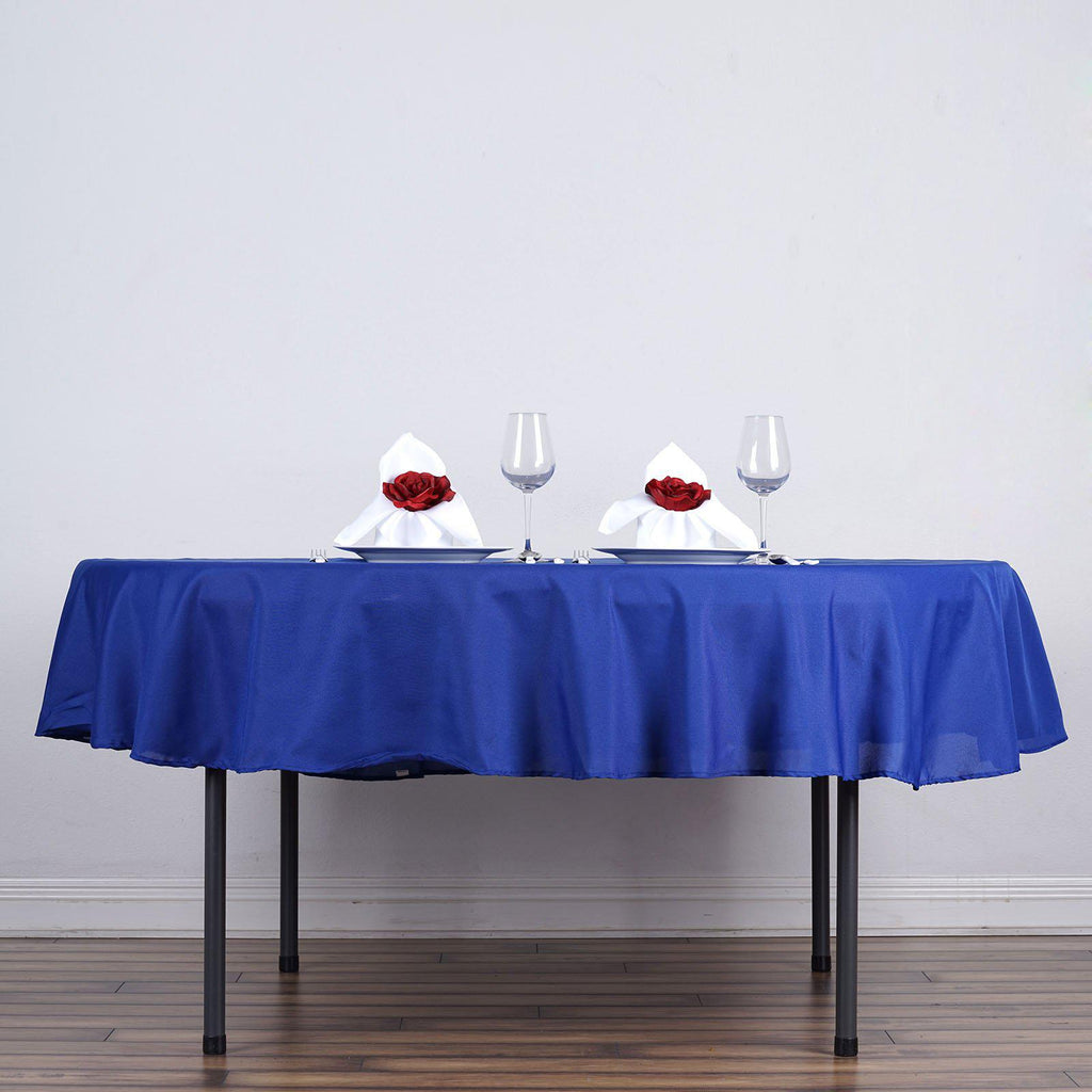 90 Quot Royal Blue Wholesale Polyester Round Tablecloth For