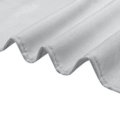 90inches Silver Polyester Round Tablecloth