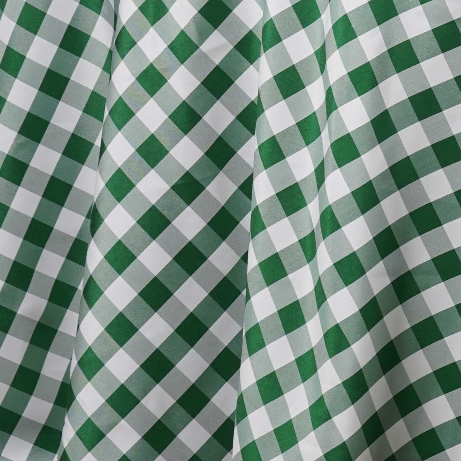 120 Quot White Green Round Checkered Gingham Polyester Picnic