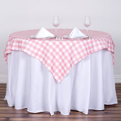 Gingham Checkered Overlay | 54"