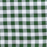 "54""x54"" White/Green Checkered Gingham Polyester Square Tablecloth"