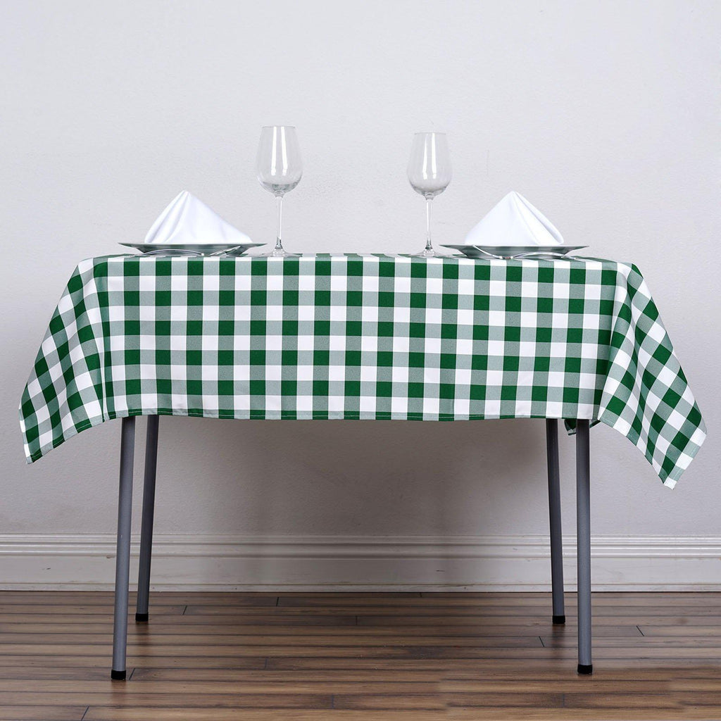 54 Quot X54 Quot White Green Checkered Gingham Polyester Square