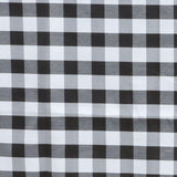 "Perfect Picnic Inspired Black/White Checkered 60x102"" Polyester Tablecloths"