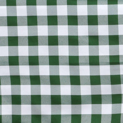 "Perfect Picnic Inspired Green/White Checkered 60x102"" Polyester Tablecloths"