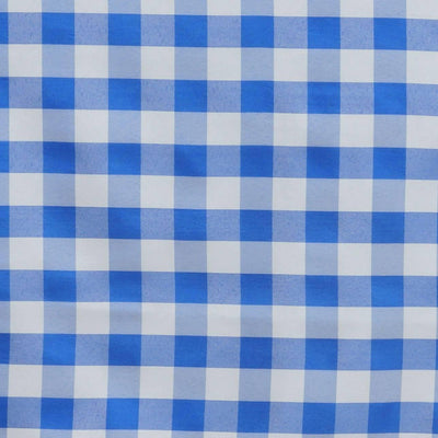 "Perfect Picnic Inspired Blue/White Checkered 60x126"" Polyester Tablecloths"