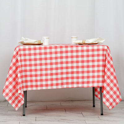 "Buffalo Plaid Tablecloth | 70""x70"" Square 