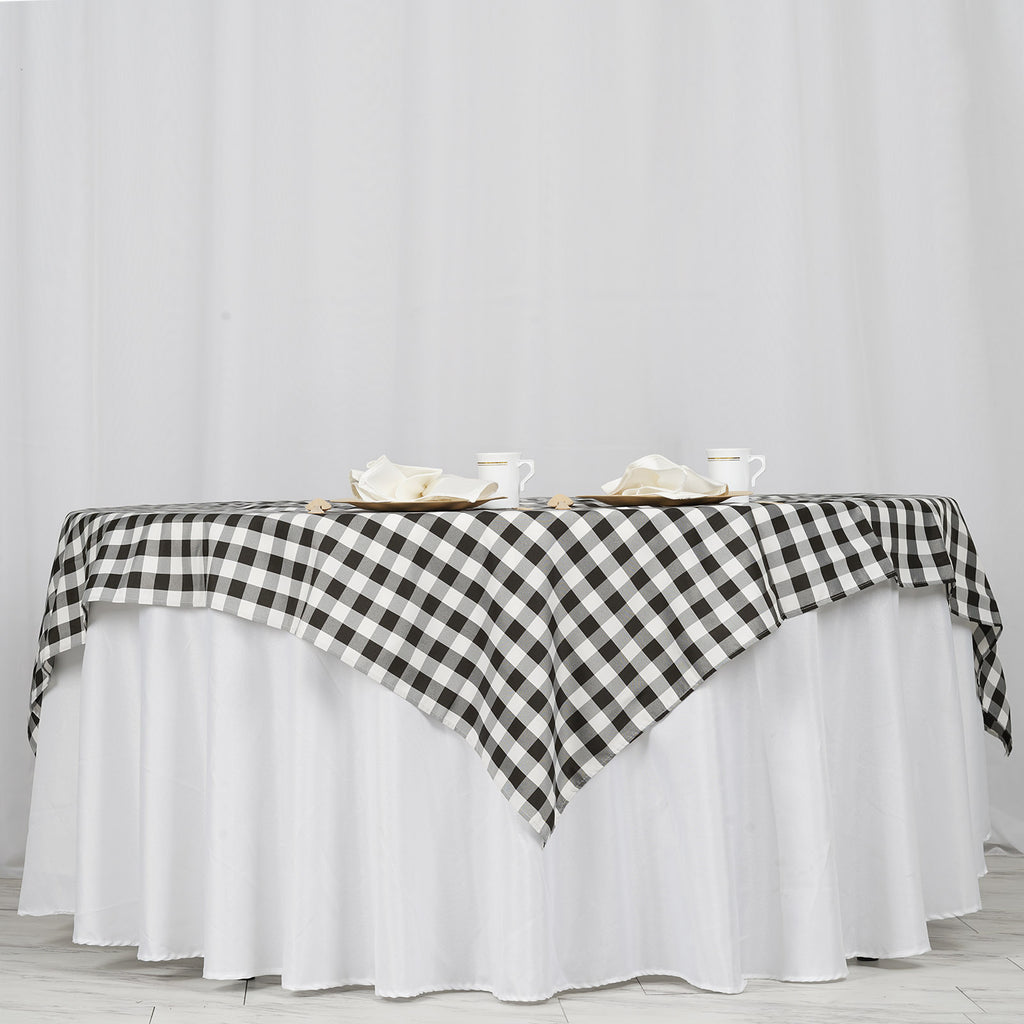 Buffalo Plaid Tablecloths 70 Quot X70 Quot Square White Black