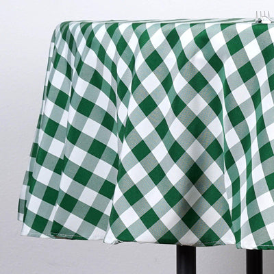"Buffalo Plaid Tablecloth | 70"" Round 