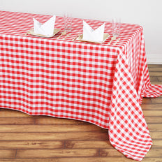 "Buffalo Plaid Tablecloths | 90""x132"" Rectangular 