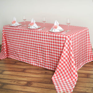 "Buffalo Plaid Tablecloths | 90""x156"" Rectangular 