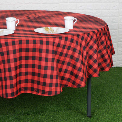 "Buffalo Plaid Tablecloth | 90"" Round 