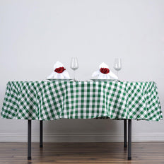 "Buffalo Plaid Tablecloths | 90"" Round 