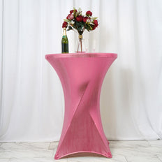 Fitted Tablecloths, Stretch Table Covers,Highboy Cocktail Round Spandex Table Covers