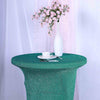 Turquoise Metallic Shiny Glittered Spandex Cocktail Table Cover
