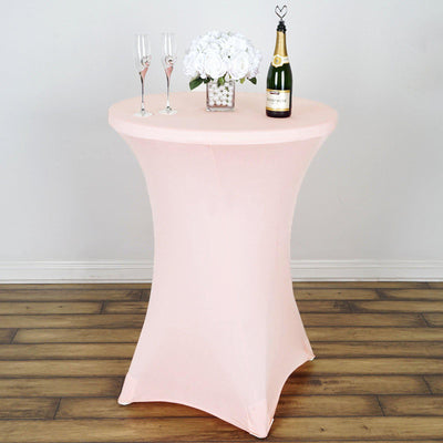 Blush | Rose Gold Cocktail Spandex Table Cover