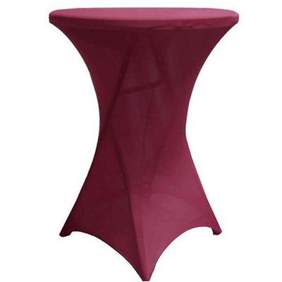 Cocktail Spandex Table Cover - Burgundy