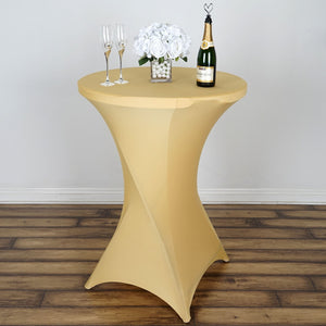 Cocktail Spandex Table Cover - Champagne
