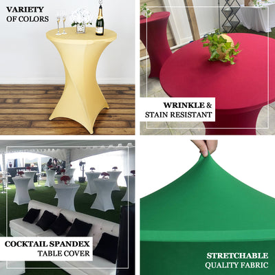 Cocktail Spandex Table Cover - Gold