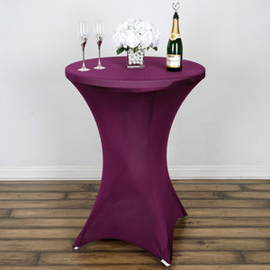 Eggplant Cocktail Spandex Table Cover
