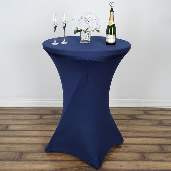 Navy Blue Cocktail Spandex Table Cover