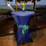 Cocktail Spandex Table Cover - Navy Blue
