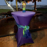 Purple Cocktail Spandex Table Cover