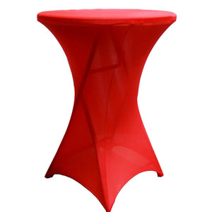 Cocktail Spandex Table Cover - Red