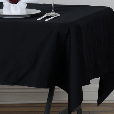 Chambury Casa *100% Cotton Tablecloth - Black 60x102""