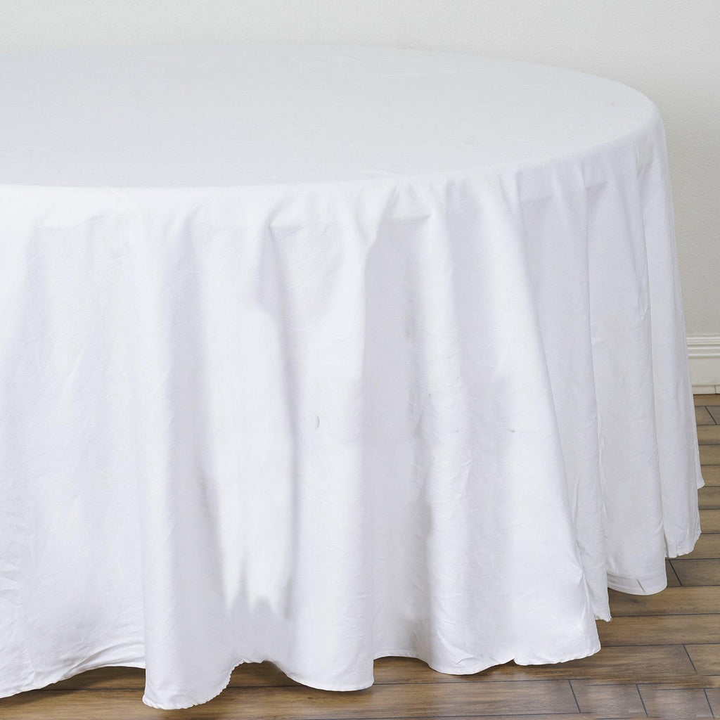 Fine 120 White Round Chambury Casa 100 Cotton Tablecloth Beutiful Home Inspiration Ommitmahrainfo