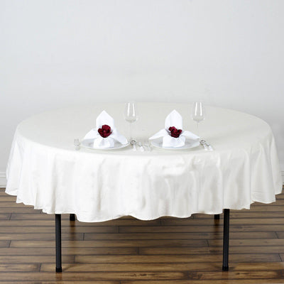 "Chambury Casa *100% Cotton Tablecloth - Ivory 70"" Round"