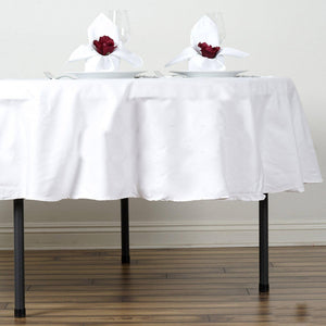 "90"" Round Chambury Casa 100% Cotton Tablecloth For Wedding Party Decoration - White"