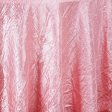 "Rose Quartz 117"" Crinkle Taffeta Round Tablecloth"