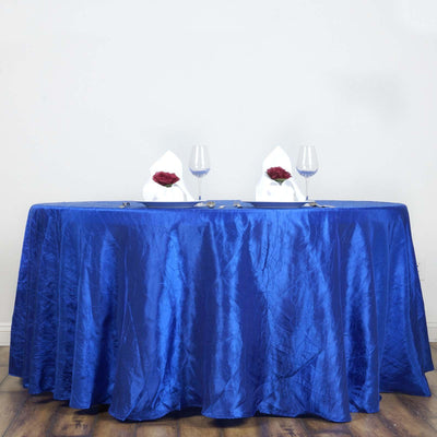 "Royal 117"" Crinkle Taffeta Round Tablecloth"
