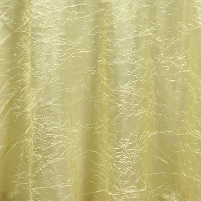 "Yellow 117"" Crinkle Taffeta Round Tablecloth"
