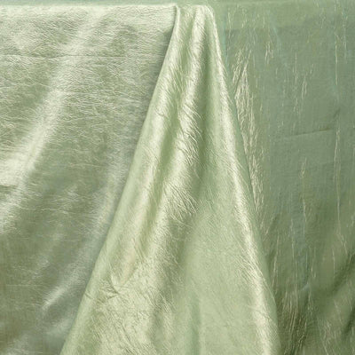 Apple Green Crinkle Taffeta Tablecloth 90x156""