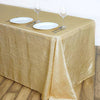 "90x156"" Champagne Crinkle Crushed Taffeta Rectangular Tablecloth"