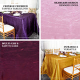 "90""x156"" Dusty Rose Crinkle Crushed Taffeta Rectangular Tablecloth - Clearance SALE"