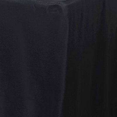 4 Feet Fitted Wholesale Rectangle Tablecloth - BLACK#whtbkgd