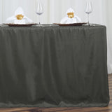 6FT CharcoalGrey Fitted Polyester Rectangular Table Cover