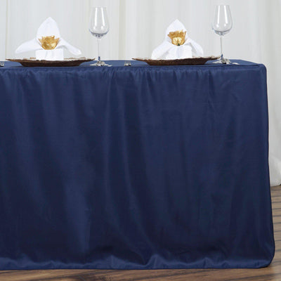 6FT Fitted NAVY BLUE Wholesale Polyester Table Cover Wedding Banquet Event Tablecloth