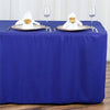 6FT Royal Blue Fitted Polyester Rectangular Table Cover