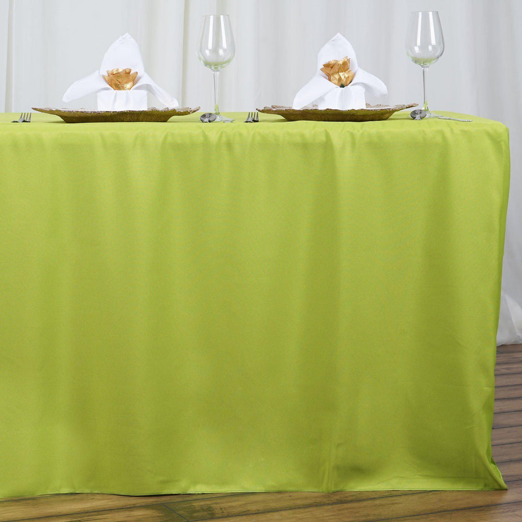 6ft Fitted Sage Wholesale Polyester Table Cover Wedding