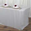 6FT Silver Fitted Polyester Rectangular Table Cover