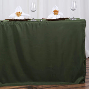 6FT Fitted WILLOW GREEN Wholesale Polyester Table Cover Wedding Banquet Event Tablecloth