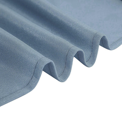 8FT Dusty Blue Fitted Polyester Rectangular Table Cover