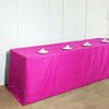 8FT Fushia Fitted Polyester Rectangular Table Cover