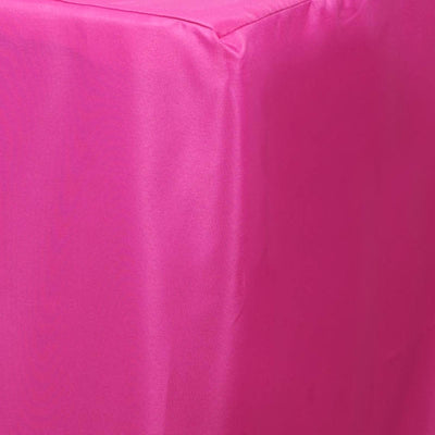 8FT Fitted FUSHIA Wholesale Polyester Table Cover Wedding Banquet Event Tablecloth