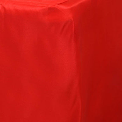 8FT Fitted RED Wholesale Polyester Table Cover Wedding Banquet Event Tablecloth